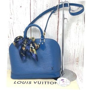 Louis Vuitton Epi Blue Alma Bag PM